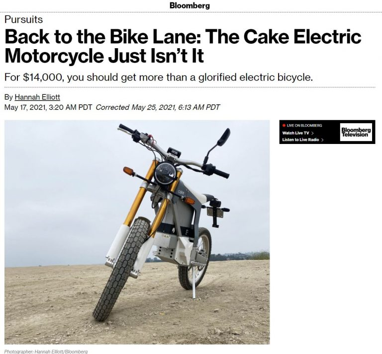 """""""The Cake Electric Motorcycle Just Isn't It"""""""